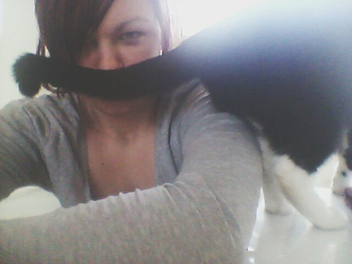 I take the cutest Selfies with My Cat♥ Jinx :* He's the babe! I Moustache You A Question ;)