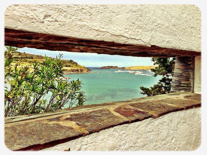 Dali's House Mediterranean  View From The Window... Blue