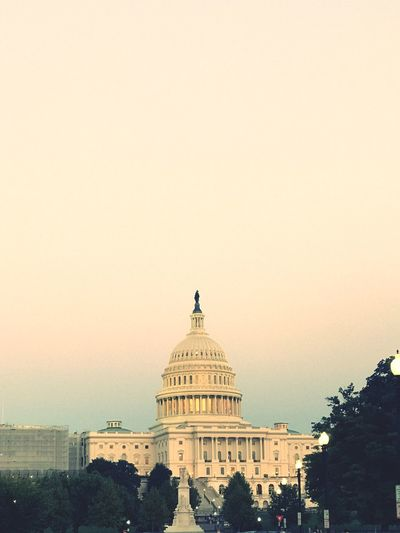 U.S. Capitol Architecture Dome Sky Building Exterior Government Copy Space First Eyeem Photo