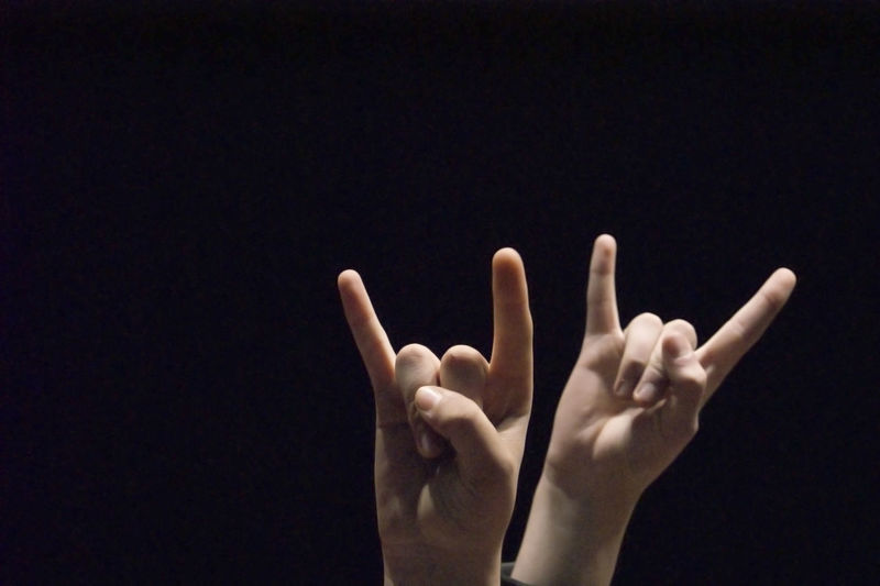 Black Background Close-up Human Body Part Human Hand Night Outdoors People Rock Concert