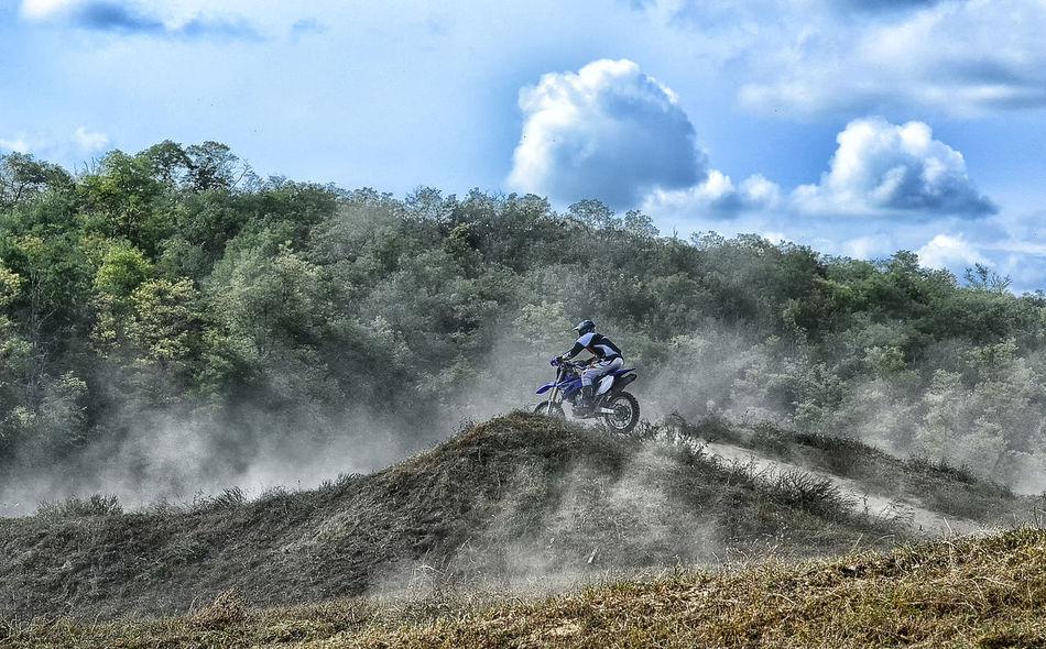 Adventure Challenge Courage Determination Dirt Road Dusty Road Enjoyment Extreme Sport Leisure Activity Lifestyles Motion Motocross Motorcycles Motorsport Speed Sport Vitality