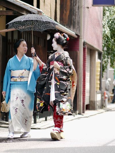 Hassaku ( 八朔 ) 1st Aug 2017 : Beautiful People Walking Around The City  Gion In Kyoto Maiko Streetphotography Streetphoto_color Snapshots Of Life Today's Hot Look Street Portrait Woman Portrait 祇園甲部 Portrait / Panasonic LUMIX GX1+ LEICA DG NOCTICRON 42.5mm/F1.2 ASPH 85mm Low Position Handheld Kyoto, Japan Testing Upload In New Version Of EyeEm