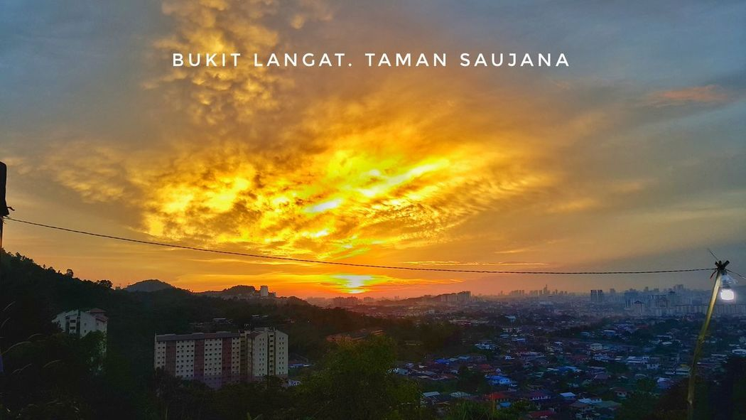 Sunset Sea Cloud - Sky Horizon Over Water Outdoors Scenics Beauty In Nature Day Kualalumpur Malaysia Urban Skyline Cityscape Beauty In Nature Mud Forest Trees Rural Scene Ampangview