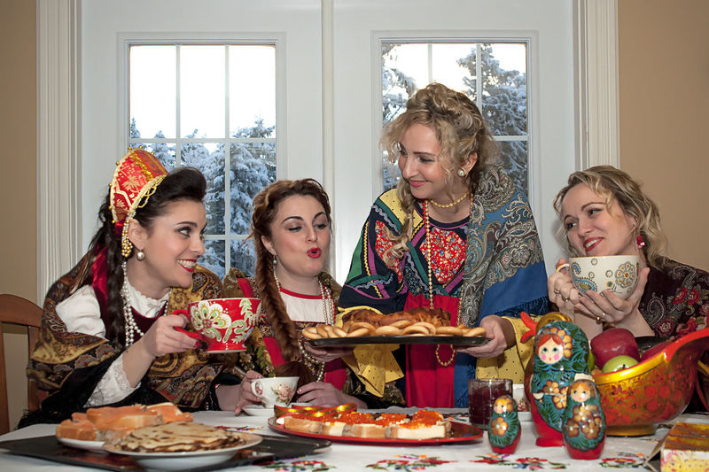 Celebration Event Food Food And Drink Girls Group Of People Indoors  Lifestyles Positive Emotion Russian Woman Sitting Smiling Table Togetherness Women Urban Fashion Jungle