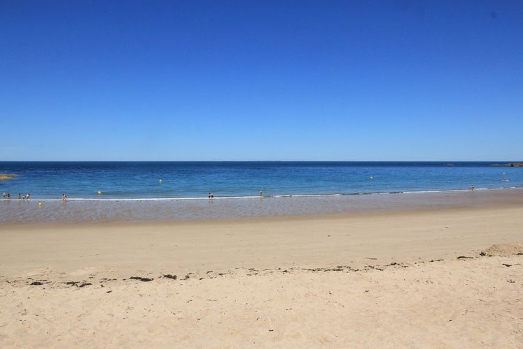 Strand, plage verger, Bretagne, France, beach, sand, background, Sea And Sky Sea Water Beach Land Sand Horizon Over Water Sky Beauty In Nature Horizon Tranquility Blue Clear Sky Nature Tranquil Scene Idyllic Outdoors
