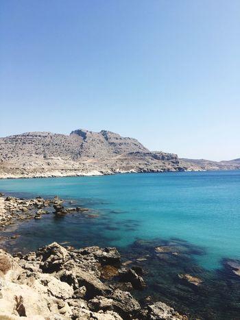 Greece Griechenland Rhodos Insel Meer Blaues Meer Blaues Wasser Landscape Water Island