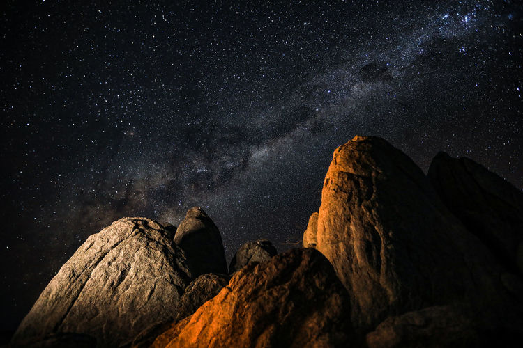 Starscape at Kubu Island , Botswana. Astronomy Beauty In Nature Formation Galaxy Long Exposure Night Photography Low Angle View Milky Way Mountain Peak Nature Night Nightscape No People Outdoors Rock Rock - Object Rock Formation Scenics - Nature Sky Solid Space Star Star - Space Star Field Tranquil Scene Tranquility