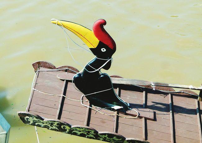Perahu penambang (a boat) at Sarawak river... Boat River Kuching Perahu Hornbill Kenyalang Sarawak Riverside Outdoors Water Riverbank Rivertrip Rm0.50 Kenduri Nature Day Paint The Town Yellow