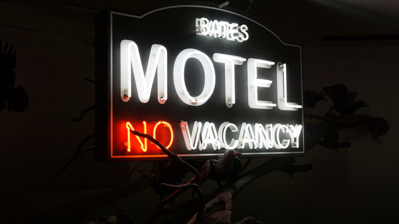 Batesmotel Capital Letter Close-up Communication Guidance Illuminated Information Sign Nasmgraphia Neon No Vacancy Outdoors Red Signboard Text Western Script