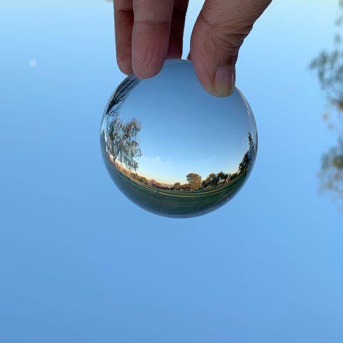 """I'm a 'blue sky thinker' and dream big."" ~ Hilary Knight Lensball Lake Elizabeth Fremont Sky Blue Sphere"