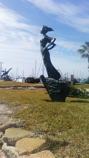 Statute Maiden Waiting For Someone At Sea Harbor View Parks And Recreation The Places I've Been Today Rockport Texas Taking Photos Artphotography Harbour