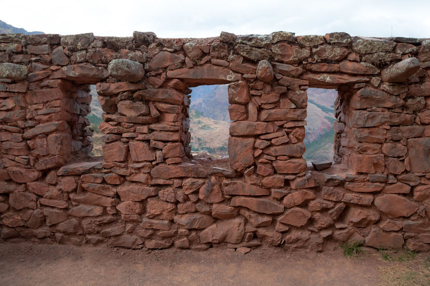 Pisac Perú Ruinas Paisaje Piedras Inca Architecture Wall Built Structure No People Solid Stone Wall History Day Wall - Building Feature The Past Sky Stone Material Building Exterior Outdoors Travel Destinations Rock Brick Nature Rock - Object Brick Wall