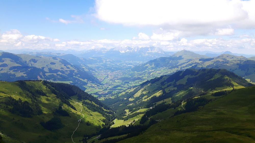 Mountain Landscape Nature Travel Cloud - Sky Sky Tranquility No People Environment Austria Green Blue Beautiful Österreich Hinterglemm Saalbach Mountain Landscape First Eyeem Photo