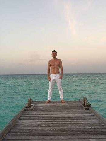 #White #Contrast #sea #jeans #MEN #boy EyeEmNewHere
