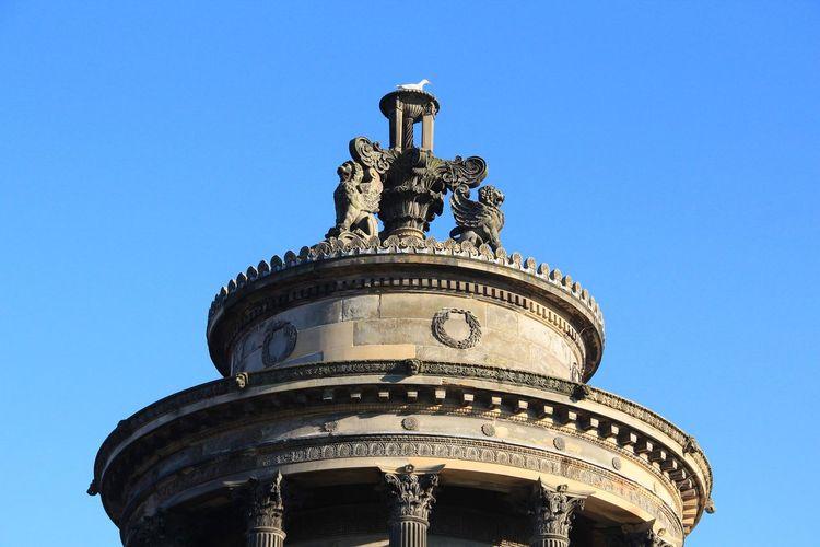 Calton Hill Edinburgh Scotland Unesco Architecture Built Structures History Building Exterior Low Angle View Blue Sky