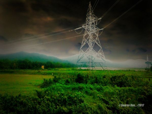 Electricity Pole Field Landscape Agriculture Food Night No People Nature Fog Outdoors Grass Rice Paddy Tree Thunderstorm Freshness Like4like EyeEm Team Likeforlike Colours Of India The Week On EyeEm