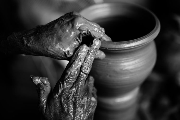 Making of Pots Close-up Daily Work Day Detail Details Dirty Extreme Close-up Finger Focus On Foreground Hands Making Monochrome Part Of Potter Pottery Selective Focus Work Work Tool Working Need For Speed Showcase June Welcome To Black Investing In Quality Of Life