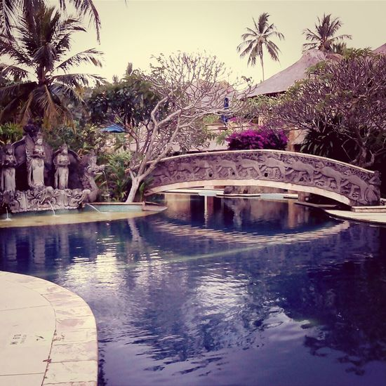 View of swimming pool in canal