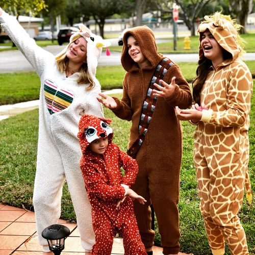 Onesie fun Pajamas Kids Being Kids Togetherness Group Of People Happiness Emotion Women Smiling Fun