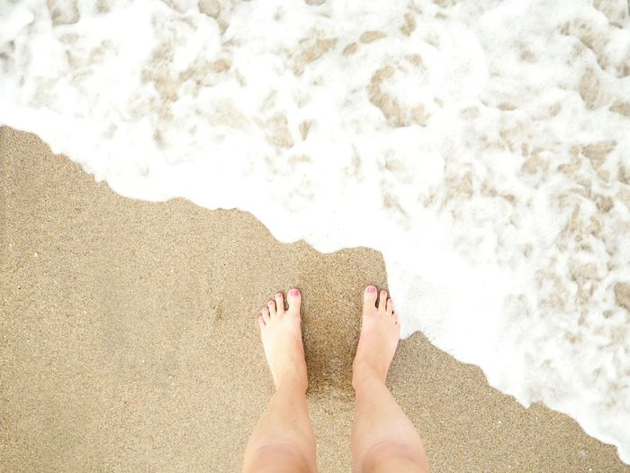 Wave Paradise Tropical EyeEm Selects Low Section Nail Polish Water Beach Relaxation Sea Human Leg Sand Summer Women Foot