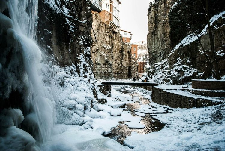 Snow Cold Temperature Winter No People Outdoors Day Frozen Beauty In Nature Water