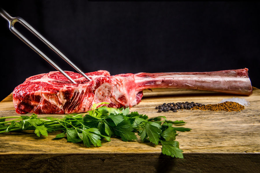 Wagon  Wagyu Beef Beef Black Background Close-up Cutting Board Food Food And Drink Freshness Healthy Eating Herb Indoors  Meat No People Preparation  Raw Food Red Meat Steak Still Life Studio Shot Tomahawk Steak Vegetable Wagyu Steak Wellbeing Wood - Material The Still Life Photographer - 2018 EyeEm Awards