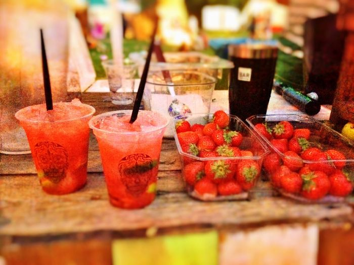 Sweet ending of a beautiful summers day! Coctails Strawberries Summer