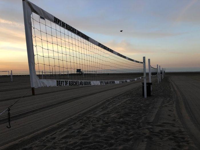 Volleyball Sky Sea Beach Sunset Land Water Tranquil Scene Sand Cloud - Sky