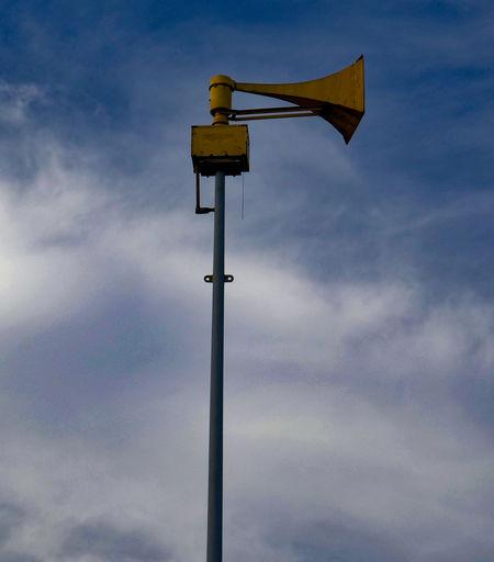 Civil Defense Emergency Emergency Equipment Horn Low Angle View Siren Technology War
