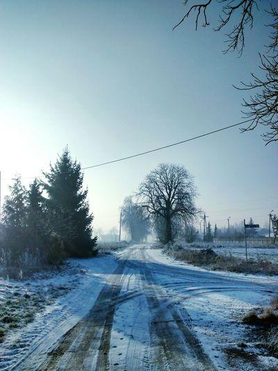 Vanishing Point Beauty Village Snow Sky Poland Winter Wonderland Winter Nature Nature_collection