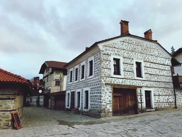 Bansko Old Town Bulgaria Building Exterior Architecture Built Structure Sky House Cloud - Sky Outdoors Day Residential Building No People