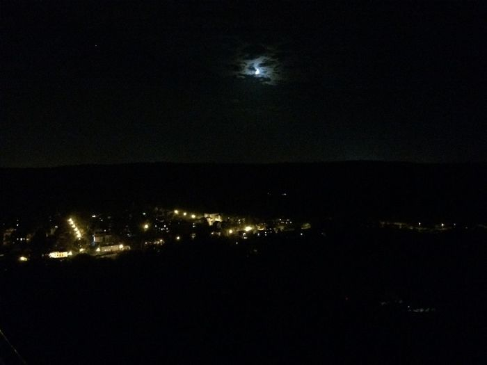 The moon Night Illuminated Sky City Moon