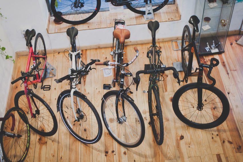 Bicycle Bicycle Shop Day Mode Of Transport No People Outdoors Pedal Stationary Transportation