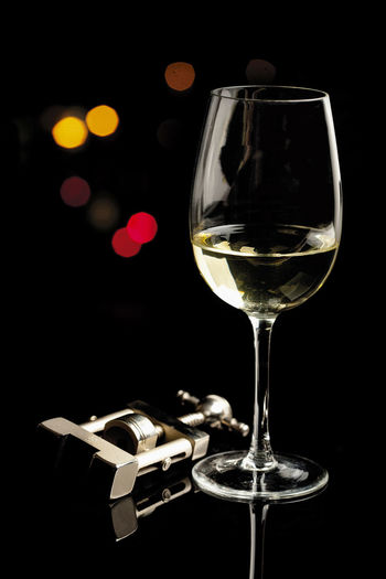 Light in Night EyeEmNewHere Lights Wine Tasting Wineandmore Alcohol Black Background Close-up Drink Drinking Glass Glass Reflection Lightanddark Night No People Whitewine Wine Wineglass