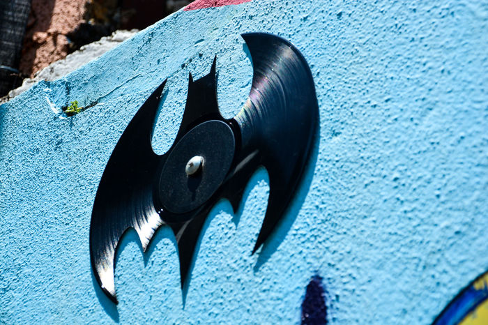 ezefer Vinil Record Animal Themes Beco Do Batman Blue Close-up Day Insect No People Outdoors Street Art Street Art/Graffiti Vila Madalena