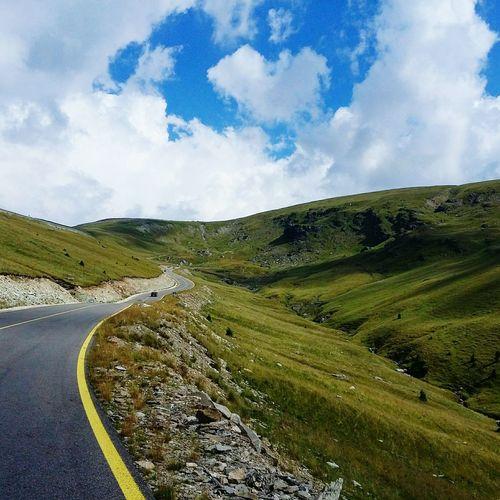 Shape Summer Landscape Outdoors Green Sky Clouds And Sky Clouds Sky Road Roadtrip Roads Of Romania Romania