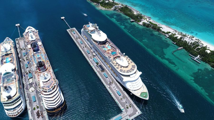 Port of Nassau Bahamas Nassau, Bahamas Aerial Photography Dronephotography Cruise Ship Nautical Vessel Bahamas DJI X Eyeem EyeEm Selects Water High Angle View Nature Day Swimming Pool No People Aerial View Turquoise Colored Luxury Leisure Activity