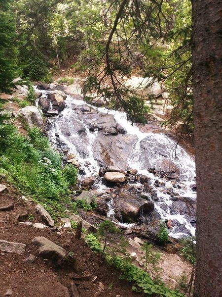 Cascades Stream Water On A Hike Take A Break Exploring Woods