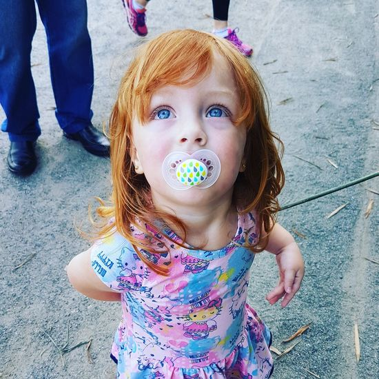 Baby Looking At Camera Childhood Babies Only Princess👸 Princesalinda Pretty Eyes Pretty Girl RedHair 💞 Redhairgirl RedHAIR ❤ Baby Girl Blue Eyed Baby Kids Child