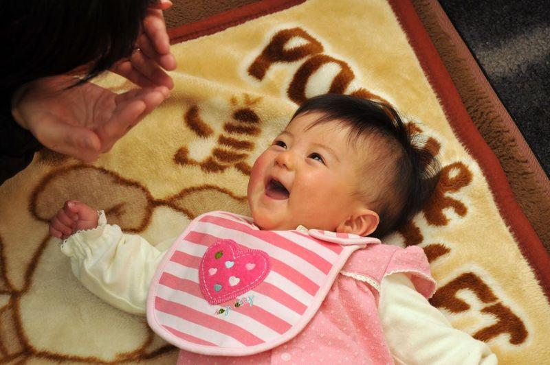 daughter Baby Smiling Peekaboo