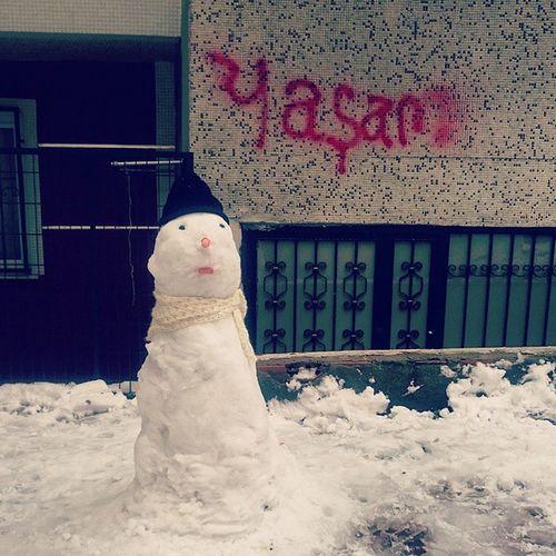 Yaşar/Yaşam? Schneemann Kardanadam Snowman Yasar Yasam