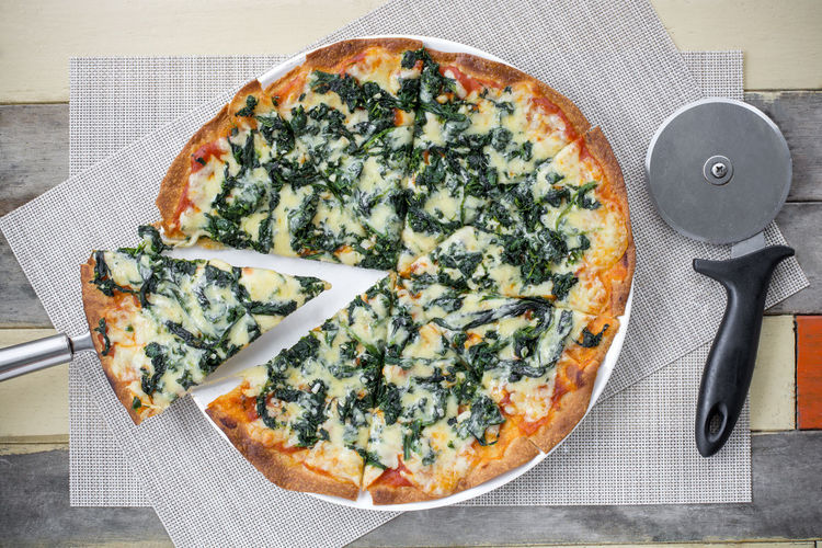 Basil Cheese Close-up Day Directly Above Food Food And Drink Freshness Healthy Eating Indoors  Italian Food No People Pizza Ready-to-eat Table