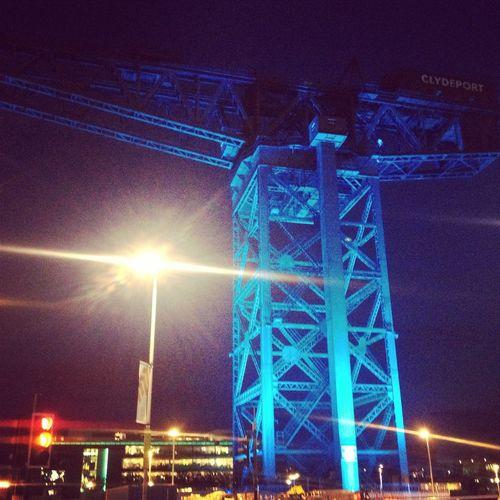 Clyde Arc Clydeside Finnieston Finnieston Crane Giant Crane Glasgow  Hydro Rotunda