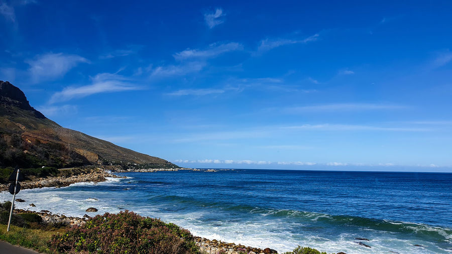 Dark blue sea indian ocean of cape town south africa vacation and retirement destination