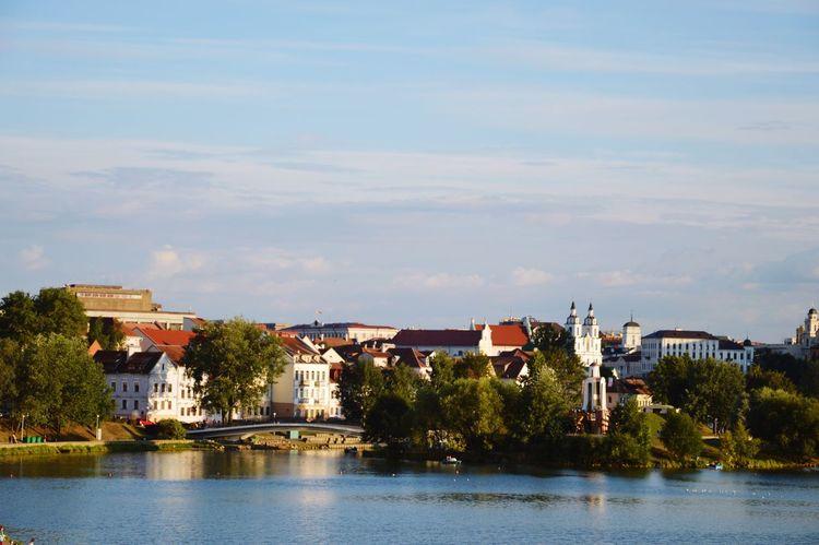 Minsk River Water Old Town Minsk City