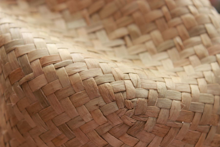 Hat Art And Craft Backgrounds Bamboo - Material Basket Brown Close-up Craft Crisscross Day Full Frame Handmade High Angle View Indoors  Mat No People Pattern Picnic Basket Straw Hat And Sunshine Textured  Whicker Wicker Woven