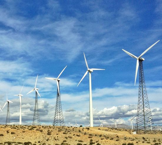 Wind Power California Outdoors Cloud - Sky Day Field Nature Technology Low Angle View Landscape No People California Dreamin