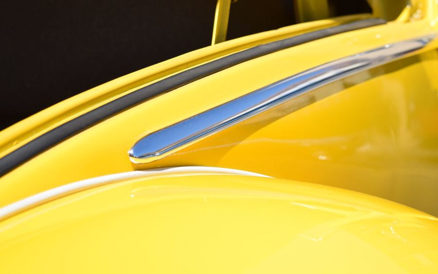 Volkswagen Car Cars Yellow Abstract Walking Around Car Show Streamzoofamily Streetphotography Learn & Shoot: Leading Lines Color Palette Paint The Town Yellow Shiny Part Of Angles And Lines Side View Silver  Urban City