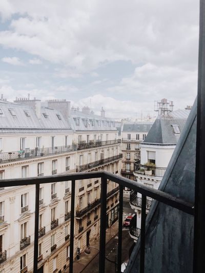 Paris Architecture Built Structure Building Exterior Sky City Cloud - Sky Building Skyscraper Office Building Exterior Mode Of Transportation Residential District Outdoors Transportation No People Day Cityscape Nature Railing River Water
