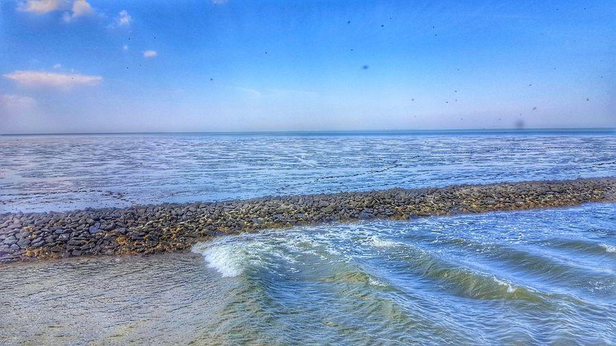 Carolinensiel Harlesiel Nordsee Tideland Beach Sea Water Nature Beauty In Nature Horizon Over Water Mud Flat Watt Wattenmeer North Sea Ebbe Tide Scenics Wave Ebb Low Tide Ebb Tide Ebb And Flow